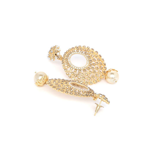 PANASH Gold-Plated Crescent Shaped Chandbalis