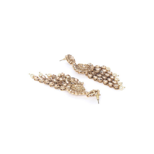 PANASH Gold-Toned Classic Drop Earrings