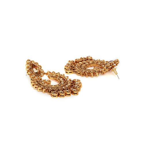 PANASH Gold-Plated Contemporary Chandbalis