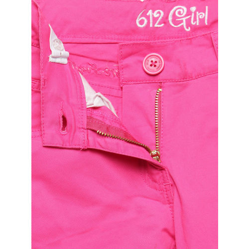 612 Ivy League Girls Pink Solid Trousers