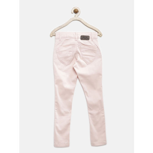 Palm Tree by Gini & Jony Girls Pink Slim Fit Trousers