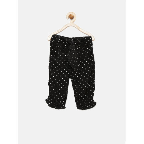 United Colors of Benetton Girls Black Polka Dot Print Trousers