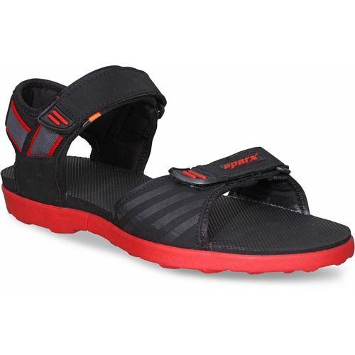 Sparx Men Black, Red Sandals