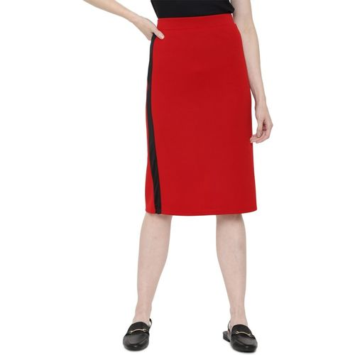 People Solid Women Straight Red Skirt