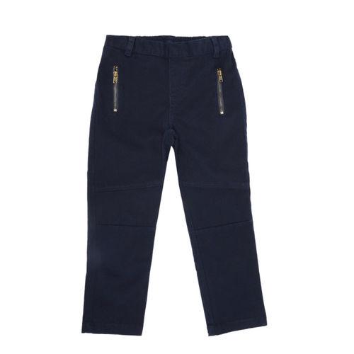 CHALK by Pantaloons Girls Navy Blue Regular Trousers
