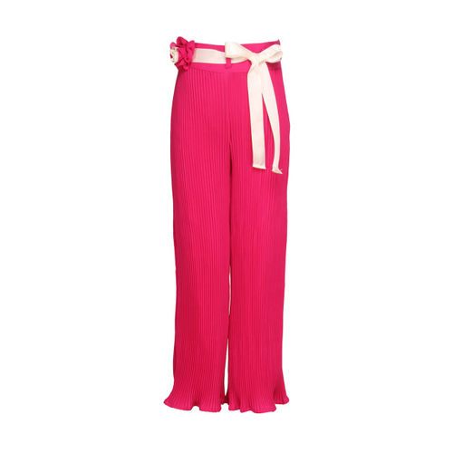CUTECUMBER Girls Pink Regular Fit Palazzo Trousers