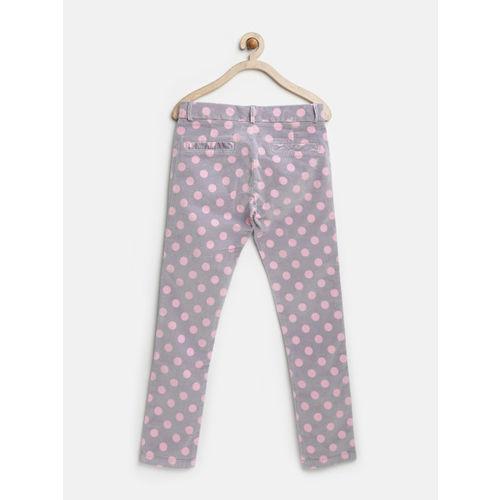 United Colors of Benetton Girls Grey Polka Dot Print Trousers