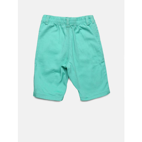 Gini and Jony Girls Green Solid Regular Fit Capris