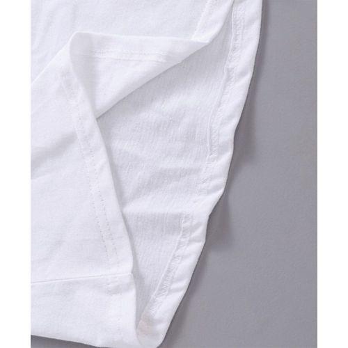 Babyhug Half Sleeves T-Shirt Butterfly Print - White
