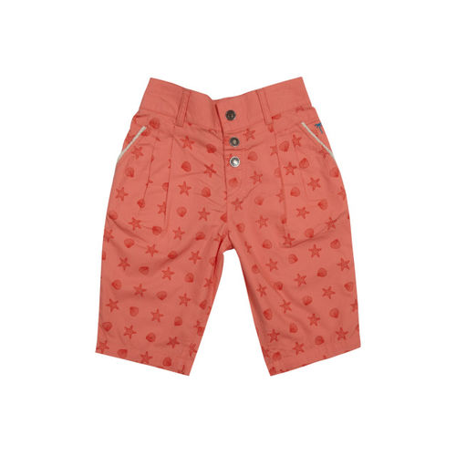 Palm Tree Coral Printed Capris