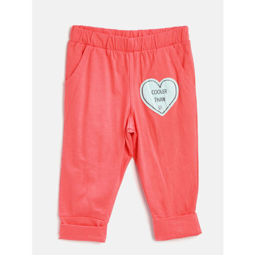 Sweet Dreams Girls Coral Orange Solid Regular Fit Capris