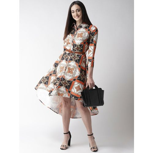 PlusS Multicolor Printed Above Knee Dress