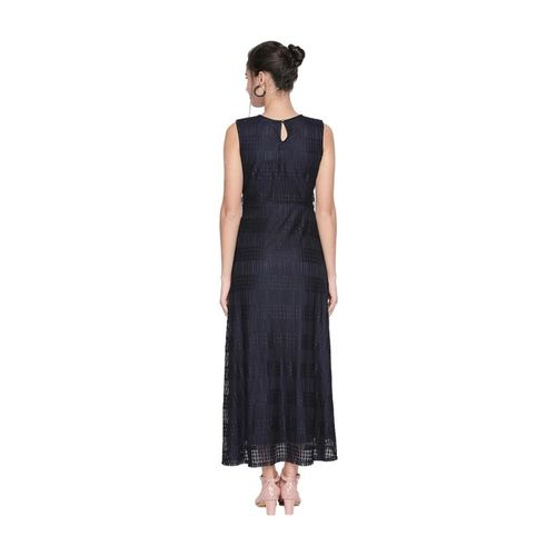 Forever Glam by Pantaloons Navy Lace Dress