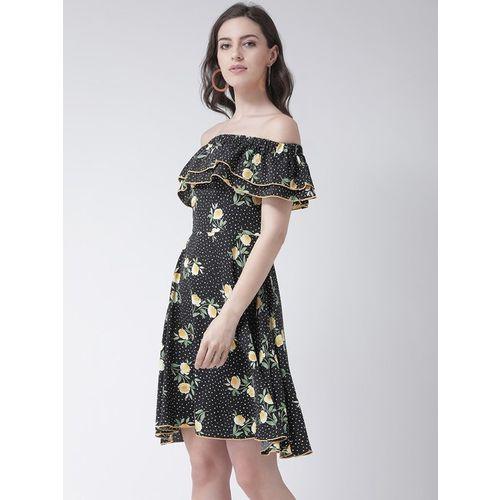 MsFQ Black Floral Print Dress