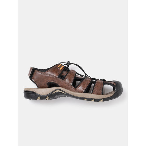 Roadster Men Brown Textured Fisherman Sandals