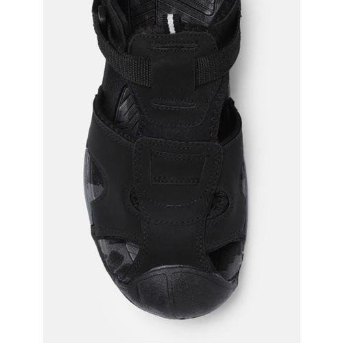 Roadster Men Black Fisherman Sandals