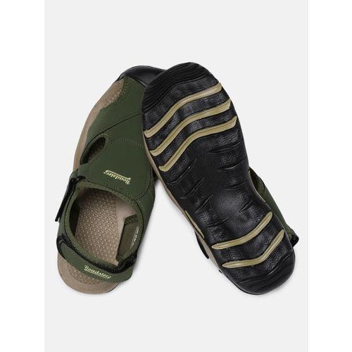 Roadster Men Olive Green Sandals