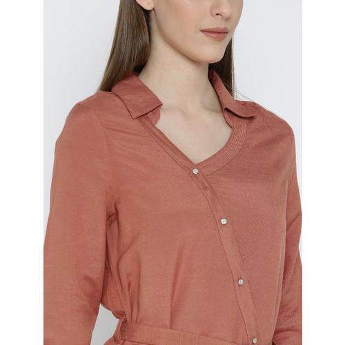 Vero Moda Brown Standard Fit Casual Shirt