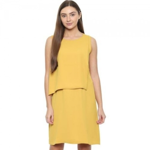 Solly by Allen Solly Yellow Regular Fit Above Knee Dress