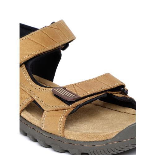 Woodland ProPlanet Men Camel Brown Nubuck Leather Comfort Sandals