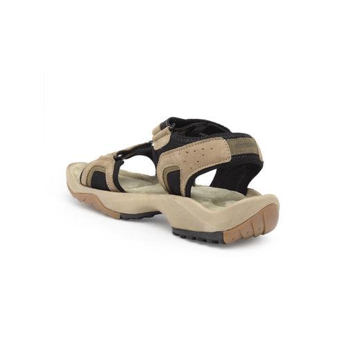 Woodland Pro Planet Men Khaki Leather Comfort Sandals