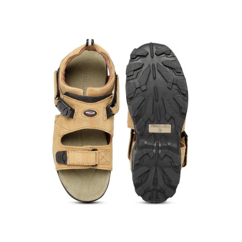 Woodland Pro Planet Men Camel Brown Leather Comfort Sandals