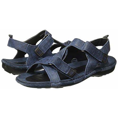 Woodland Men's Gd 0048105wsl_Denim Blue_9 Leather Outdoor Sandals-9 UK (43 EU) (10 US) 0048105WSLDENIM