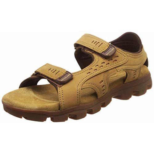 Woodland Men's Ogd 2552117_Camel Leather Outdoor Sandals-8 UK (42 EU) (9 US) 2552117CAMEL