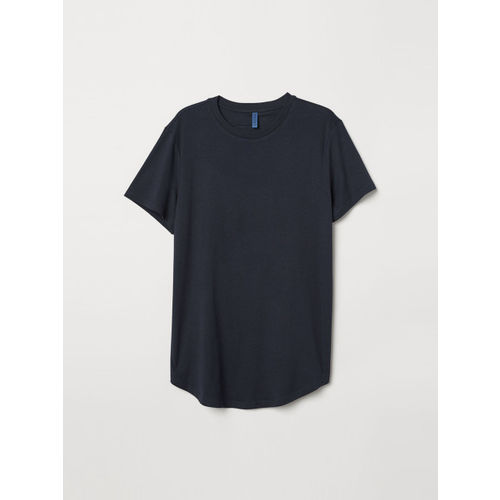 H&M Men Blue Solid Long T-shirt
