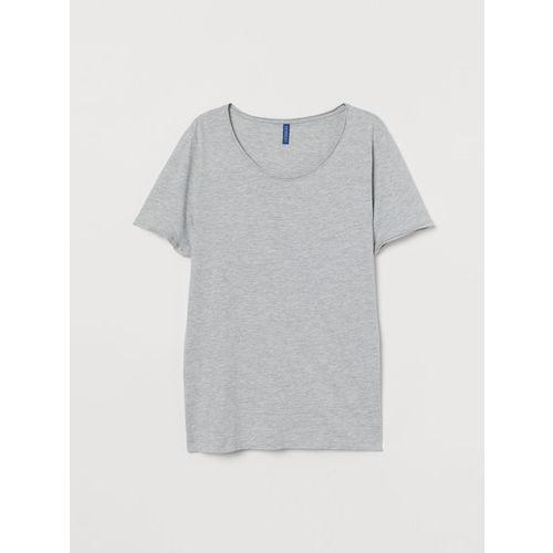 H&M Men Grey Low-Necked T-shirt