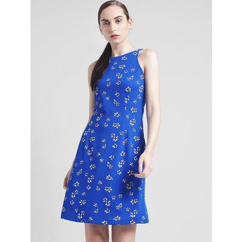 Zink London Blue Printed Dress