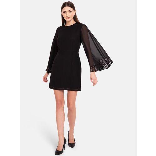 Kazo Black Regular Fit Above Knee Dress