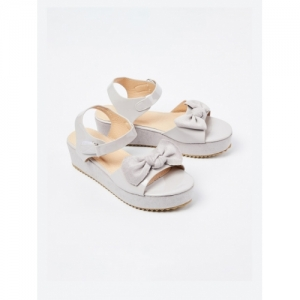 Fame Forever by Lifestyle Grey Synthetic Solid Casual Sandals