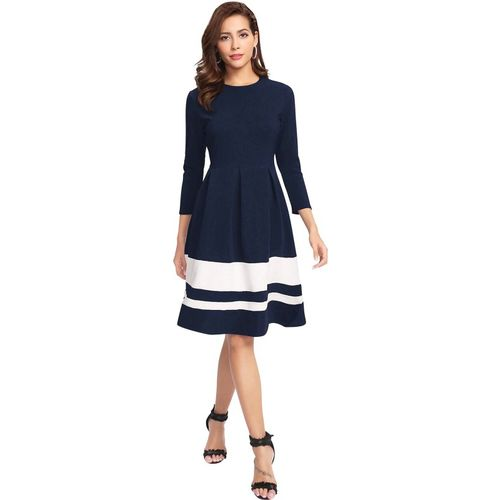 ILLI LONDON Women Shift Blue Dress