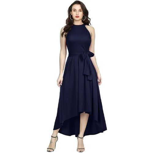 Aarna creation Women Fit and Flare Blue Dress