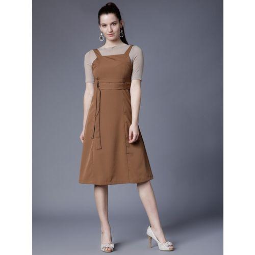 Tokyo Talkies Women Maxi Brown Dress