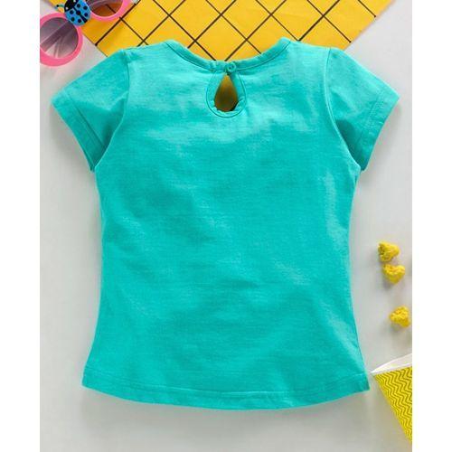 Babyhug Half Sleeves Tee Paradise Print - Mint Green