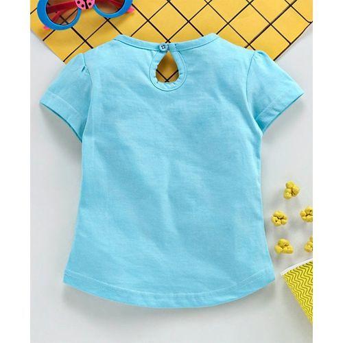 Babyhug Half Sleeves T-Shirt Text Print - Blue