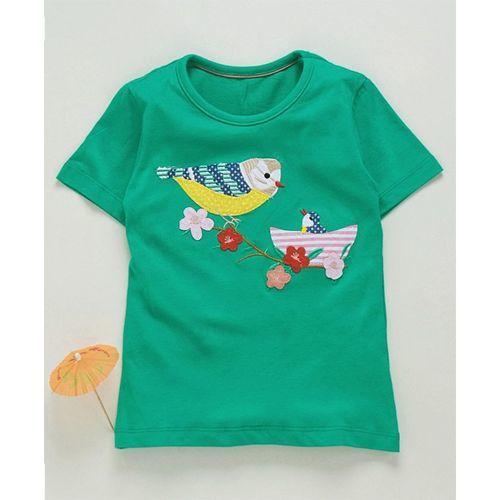 Kookie Kids Half Sleeves Tee Birdie Patch - Green