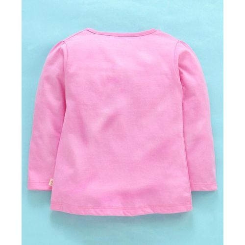 Olio Kids Full Sleeves Tee Text Print - Pink