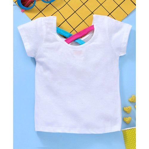 Babyhug Half Sleeves Tee Unicorn Print - White