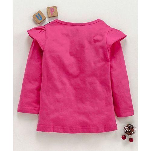 Eteenz Full Sleeves T-Shirt Dora Print - Fuchsia