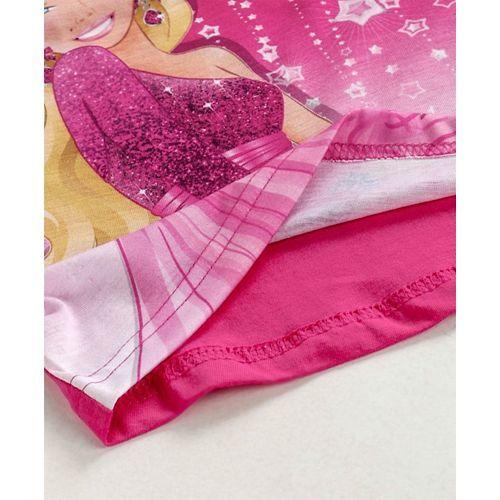 Eteenz Full Sleeves T-Shirt Princess Print - Fuchsia