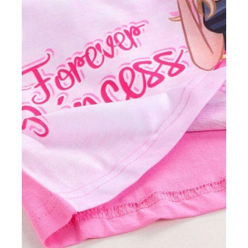 Eteenz Full Sleeves T-Shirt Princess Print - Pink