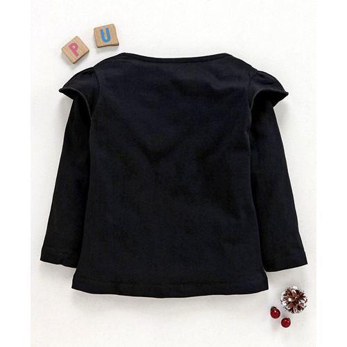 Eteenz Full Sleeves T-Shirt Wonder Woman Logo Print - Black