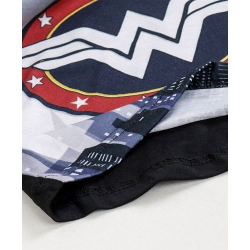 Eteenz Full Sleeves T-Shirt Wonder Woman Logo Print - Black