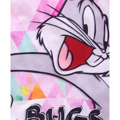 Eteenz Full Sleeves T-Shirt Bugs Bunny Print - Pink