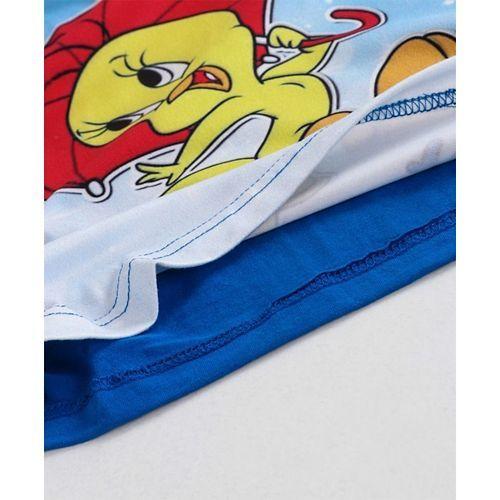 Eteenz Three Fourth Sleeves Top Tweety Print - Blue