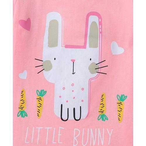 Kookie Kids Half Sleeves Tee Bunny Print - Pink