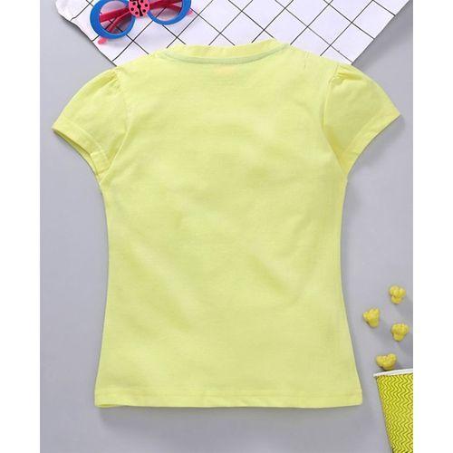 Babyhug Half Sleeves Tee Graphic Print - Yellow